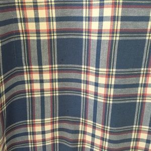 Madewell Tops - Madewell Rivet Thread Blue Hannah Plaid Flannel